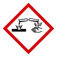 Gefahrstoffkennzeichnung GHS 05: Ätzwirkung - Rolle à 500 Stück