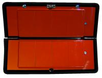 Gefahrguttafel klappbar mit Ziffernsatz, 300x400mm, Edelstahl