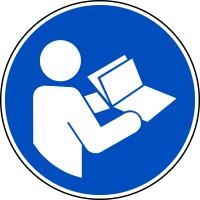 Gebotszeichen, Anleitung beachten M002 - DIN EN ISO 7010