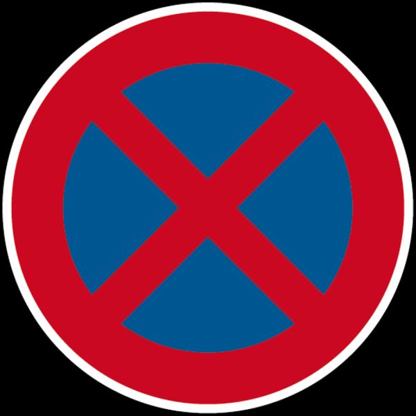 Verkehrszeichen - Absolutes Haltverbot, Zeichen 283