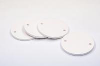 Grundplatte für Stromkreisbezeichnungsschilder, blanko, Kunststoff, Ø 40 mm - VE = 10 Stk.