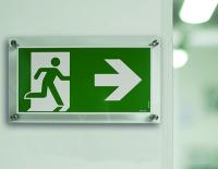 Rettungszeichen, Notausgang rechts - ASR A1.3 (DIN EN ISO 7010)