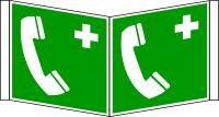 Rettungszeichen, Winkelschild Notruftelefon E004 - ASR A1.3 (DIN EN ISO 7010)