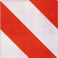 Parkwarntafel, 285x285mm, rot/weiß, retroreflektierend
