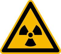 Warnzeichen, Warnung vor radioaktiven Stoffen oder ionisierender Strahlung W003 - ASR A1.3/ISO 7010