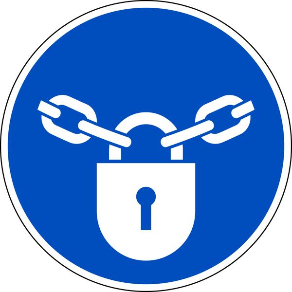 Gebotszeichen, Verschlossen halten M028 - DIN EN ISO 7010