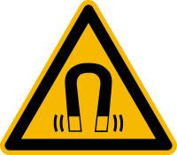 Warnzeichen, Warnung vor magnetischem Feld W006 - ASR A1.3 (DIN EN ISO 7010)