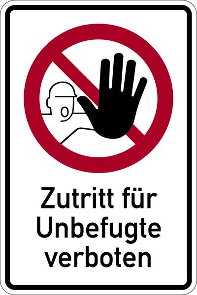 Verbotsschilder Kombischilder