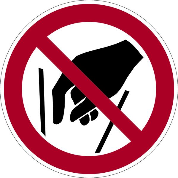 Verbotszeichen, Hineinfassen verboten P015 - ASR A1.3 (DIN EN ISO 7010)