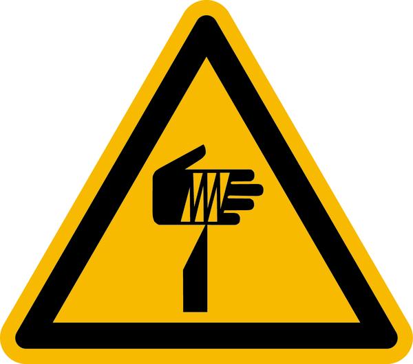 Warnzeichen, Warnung vor spitzem Gegenstand W022 - ASR A1.3 (DIN EN ISO 7010)