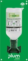 Augendusche, Natriumchloridlösung mit Wandhalterung