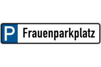 Parkplatzkennzeichen, P-Frauenparkplatz, 113x523mm, Alu geprägt