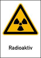 Warnschild Strahlenschutz Radioaktiv (WS100)