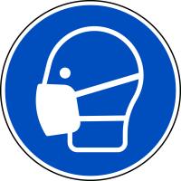 Gebotszeichen, Maske benutzen M016 - DIN EN ISO 7010
