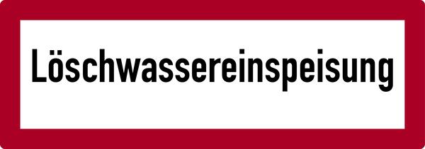 Brandschutzzeichen Löschwassereinspeisung - DIN 4066