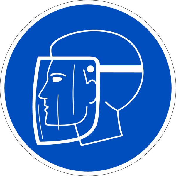 Gebotszeichen, Gesichtsschutz benutzen D-M008 - DIN 4844/BGV A8