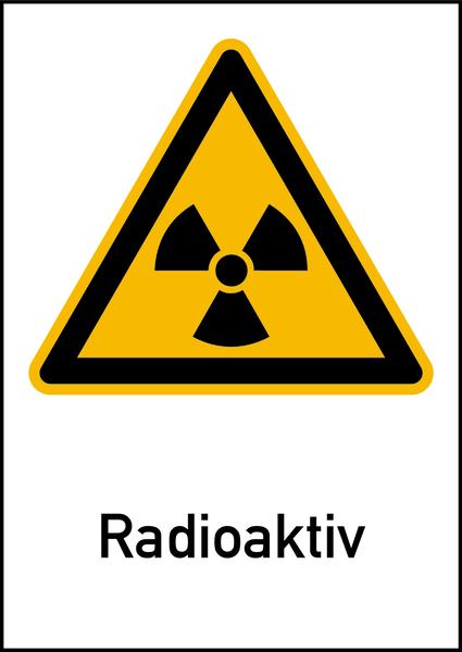 Strahlenschutzzeichen nach DIN 25430
