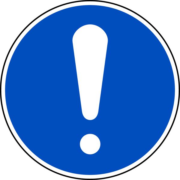 Allgemeines Gebotszeichen M001 - ASR A1.3 (DIN EN ISO 7010)