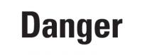 Gefahrstoffkennzeichnung Signalwort: Danger, auf Rolle à 500 Stück