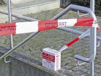 "Absperrband, Aufdruck ""GESPERRT"" - VE = Rolle à 500m"