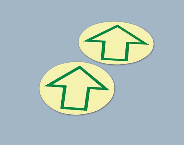 Langnachleuchtende Bodenmarkierungspunkte mit Pfeil, 1 VE = Bogen à 12 Stk