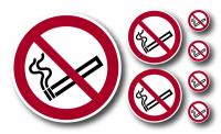 Verbotszeichen, Rauchen verboten - ISO 7010 (1 VE = Set à 7 Piktogramme)