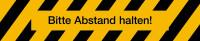 Antirutschbelag, Bitte Abstand halten!, schwarz/gelb, 130 x 650 mm