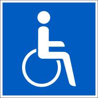 Parkplatzschild, Symbol: Rollstuhlfahrer, Folie/Aluminium