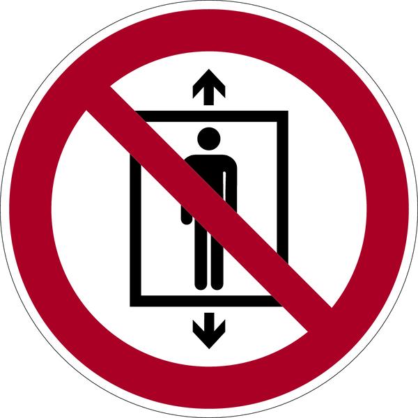 Verbotszeichen, Personenbeförderung verboten P027 - ASR A1.3 (DIN EN ISO 7010)