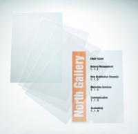 Transparente Folien, 297 x 210 mm (DIN A4) - VE = 10 Bögen