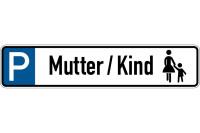 Parkplatzkennzeichen, P-Mutter/Kind mit Symbol, 113x523mm, Alu geprägt