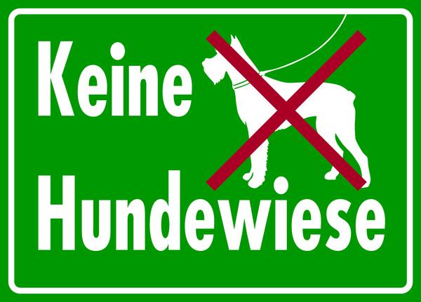 Verbotsschild, Keine Hundewiese