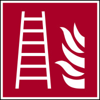 Brandschutzzeichen, Feuerleiter F003 - ASR A1.3 (DIN EN ISO 7010)