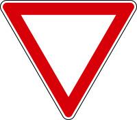 Verkehrszeichen - Vorfahrt gewähren, Zeichen 205
