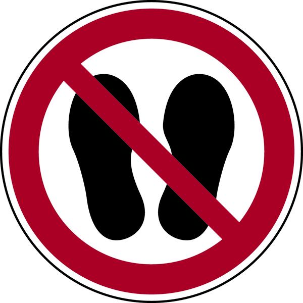 Verbotszeichen, Betreten der Fläche verboten P024 - ASR A1.3 (DIN EN ISO 7010)