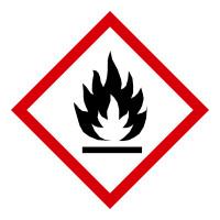 GHS Gefahrensymbol 02: Flamme - Rolle à 500 Stück