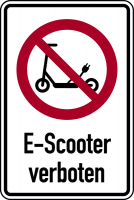 Kombischild, E-Scooter verboten