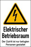Warnschild, Kombischild, Elektrischer Betriebsraum