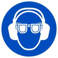 Gebotszeichen, Augen- und Gehörschutz benutzen - praxisbewährt