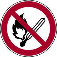 Verbotszeichen, Feuer, offenes Licht, Rauchen verboten P003 - ASR A1.3 (DIN EN ISO 7010)
