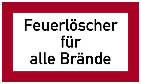 Brandschutzzeichen, Feuerlöscher für alle Brände - angelehnt an DIN 4066