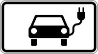 Verkehrszeichen - Elektrisch betriebene Fahrzeuge, Zusatzzeichen 1010-66