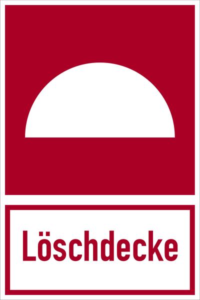 Brandschutzzeichen, Kombischild Löschdecke - DIN 4844