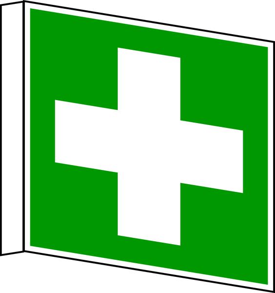 Rettungszeichen, Fahnen-/Nasenschild Erste Hilfe E003 - ASR A1.3 (DIN EN ISO 7010)