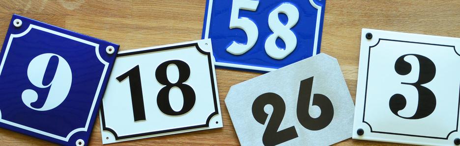 Produkte - Hausnummern- und Straßenbenennungsschilder
