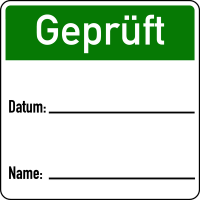 Papieretiketten zur Qualitätssicherung