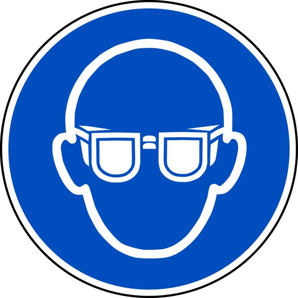 Gebotszeichen, Augenschutz benutzen M004 - ASR A1.3 (DIN EN ISO 7010)