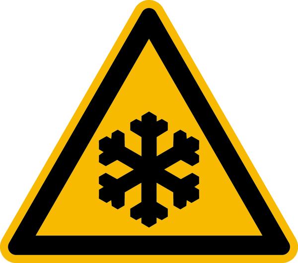 Warnzeichen, Warnung vor Kälte D-W017 - DIN 4844/BGV A8