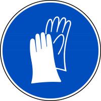 Gebotszeichen, Handschutz benutzen D-M006 - DIN 4844/BGV A8