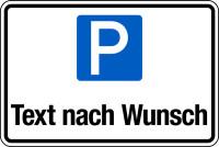 Parkplatzschild mit Wunschtext, 200x300mm, Aluverbund